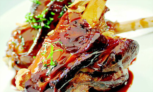 Root Beer Braised American Lamb Shanks