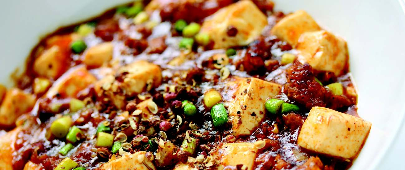 Tofu Steaks with Ma-Po Pork Sauce